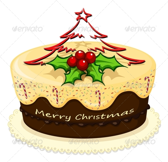 GraphicRiver Christmas Cake 8021852