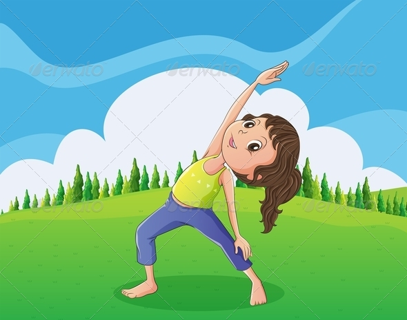 GraphicRiver Girl Exercising in the Park 8021909