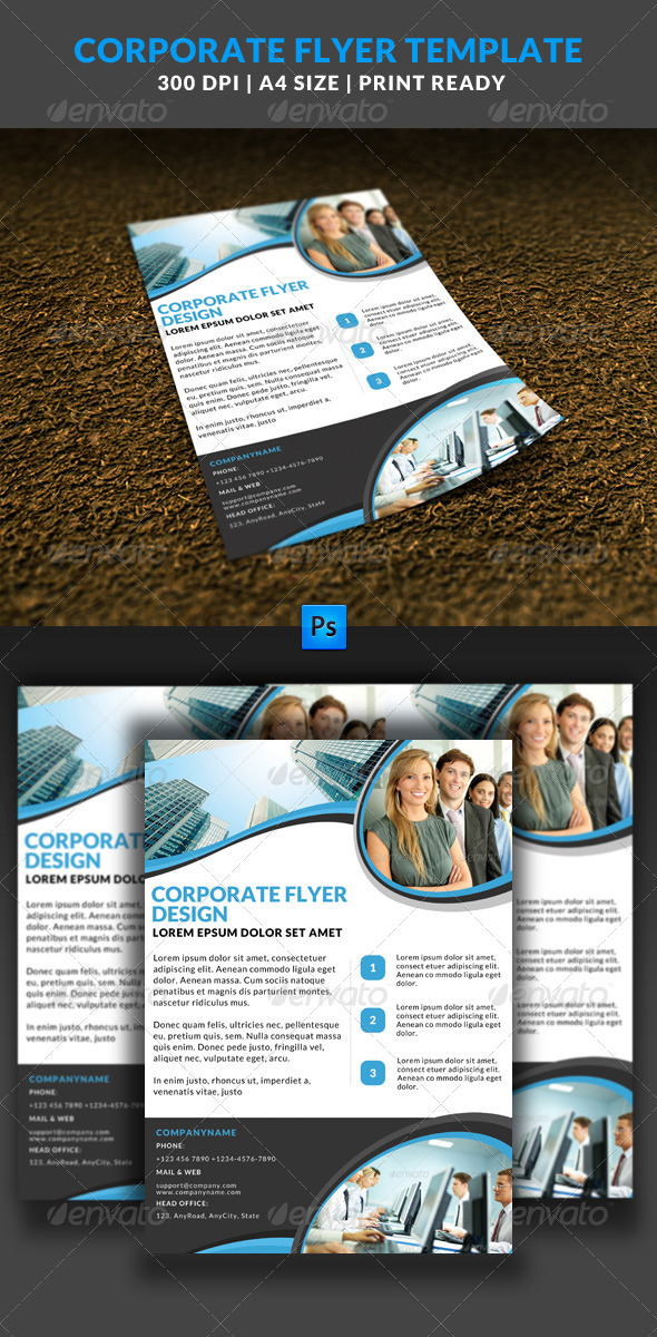 GraphicRiver Corporate Business Multipurpose Flyer Template 5 8021948