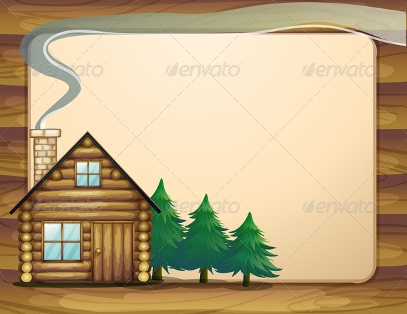 GraphicRiver A House in Front of the Empty Wooden Template 8022004