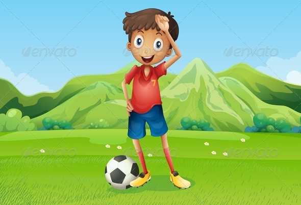 GraphicRiver A Football Player at the Field 8022030