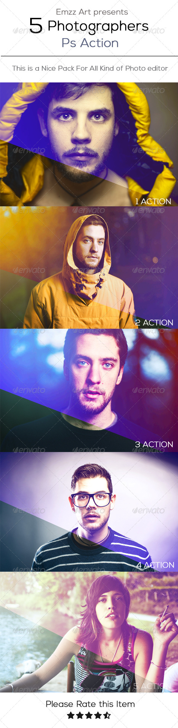 GraphicRiver 5 Ps Action 8022031