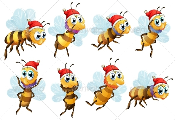GraphicRiver Santa Bees 8022047