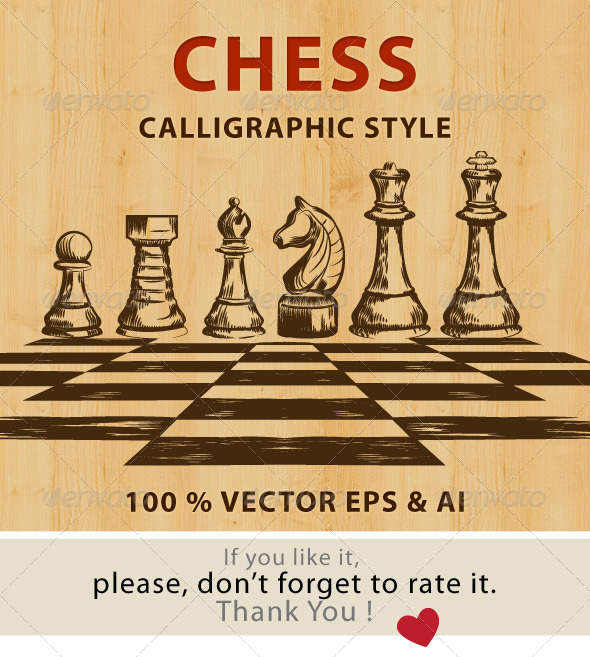 GraphicRiver Chess Calligraphic Style 8014753