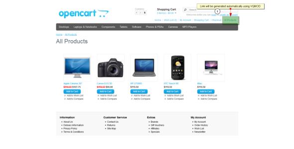 Opencart - Masonry All Products (VQMOD)
