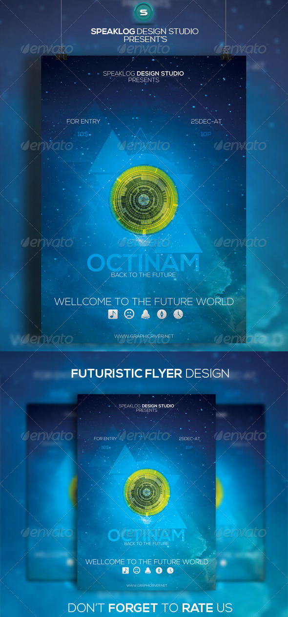 GraphicRiver Octinam Futuristic Flyer Design 7996266