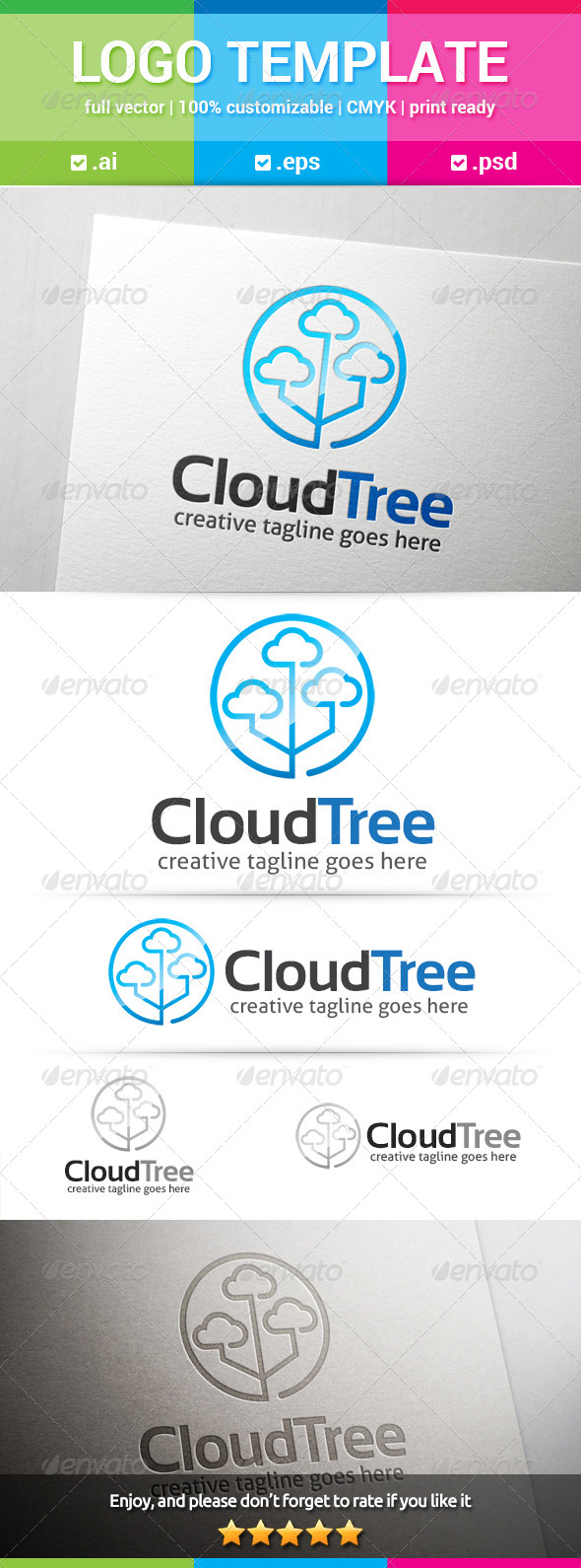 GraphicRiver Cloud Tree Logo 8022287