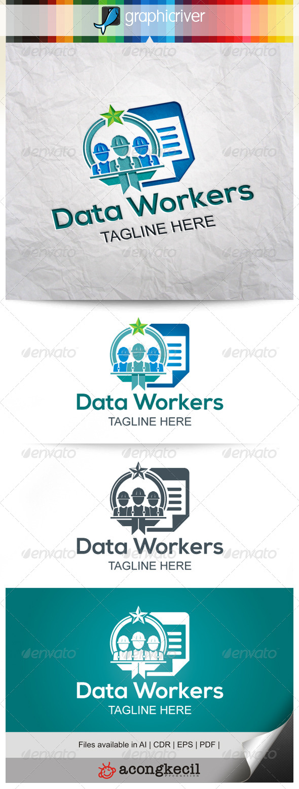 GraphicRiver Data Workers 8022289