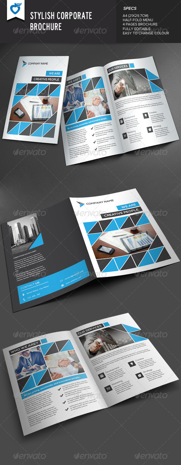 GraphicRiver Stylish Corporate Brochure 8022296