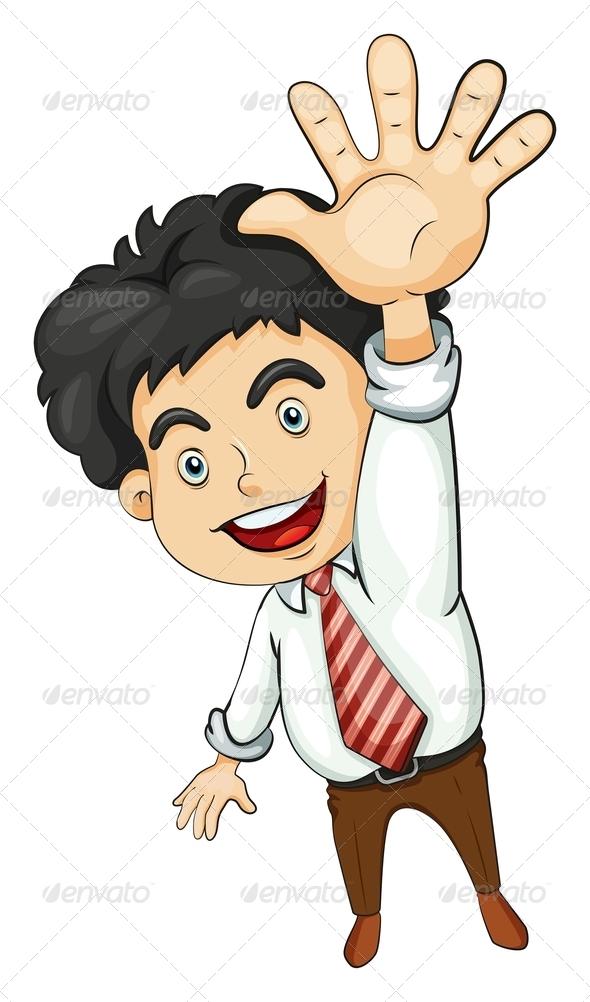 GraphicRiver Businessman Waving 8022309