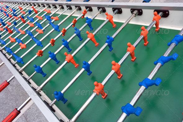 very long football or soccer table