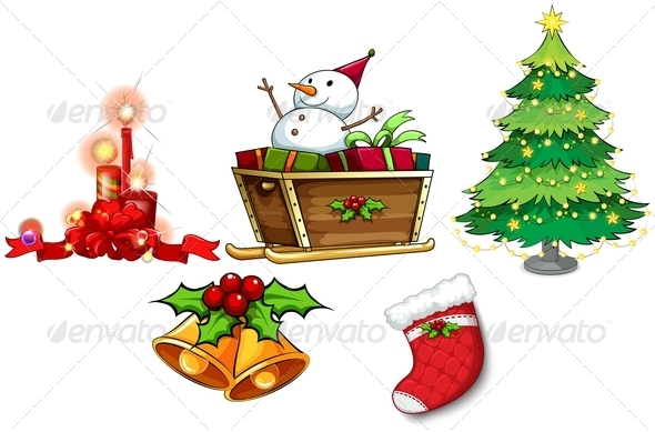 GraphicRiver Different Symbols of Christmas 8022385