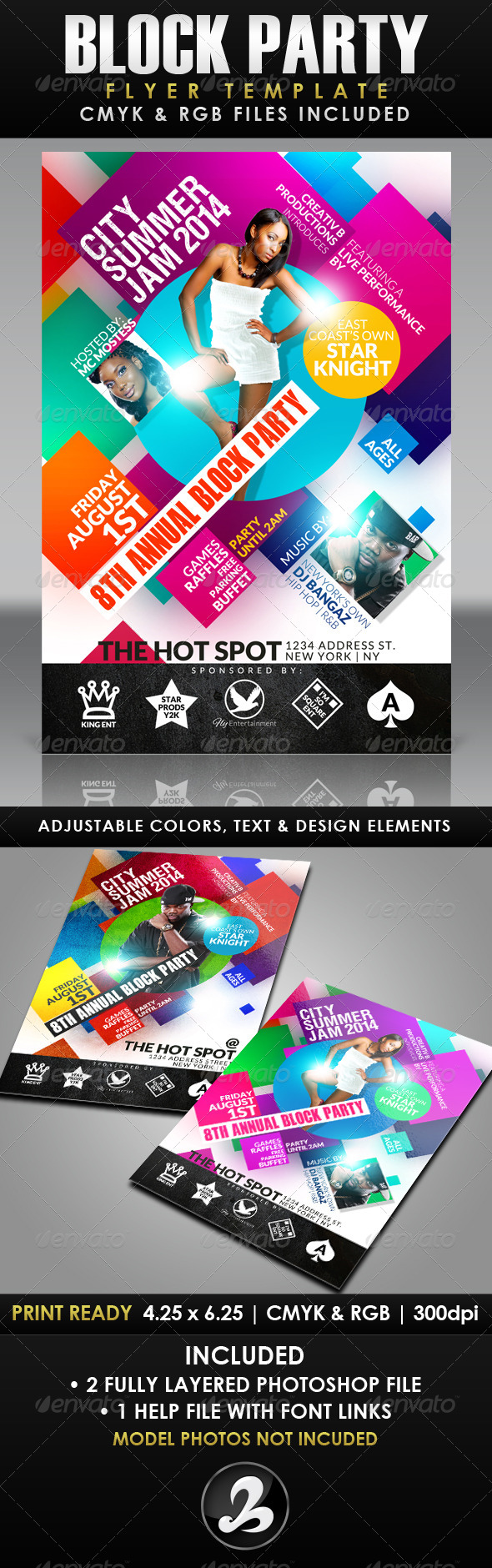 GraphicRiver Block Party Flyer Template 8022402