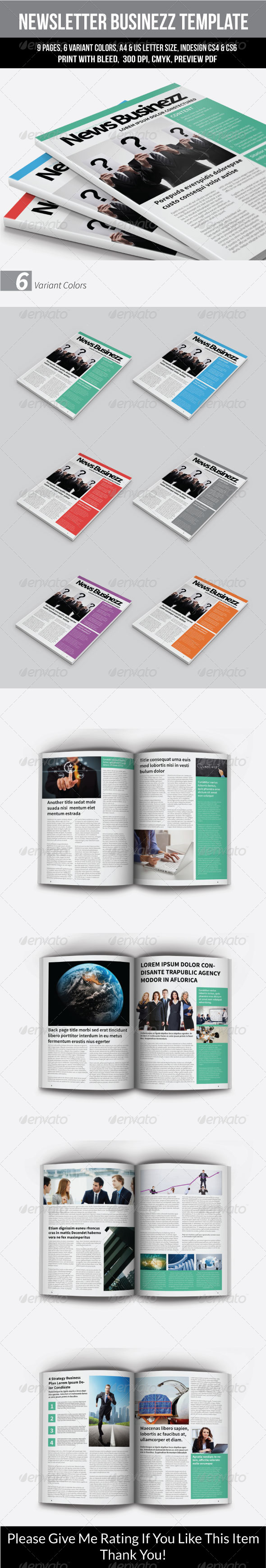 GraphicRiver Business Newsletter Template 8022411