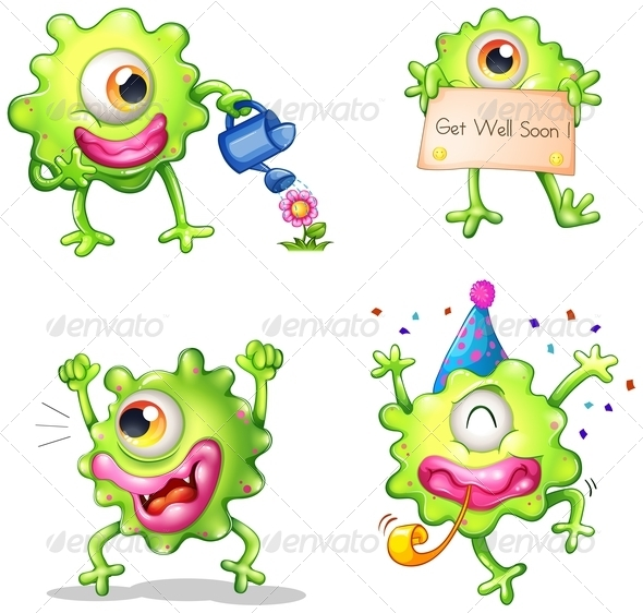 GraphicRiver Activities of a Green One-Eyed Monster 8022476