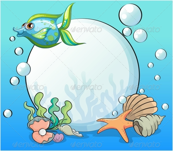 GraphicRiver Fish and Other Sea Creatures Near the Giant Pearl 8022489