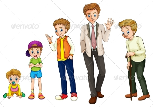 GraphicRiver A Man from Childhood to Adulthood 8022686