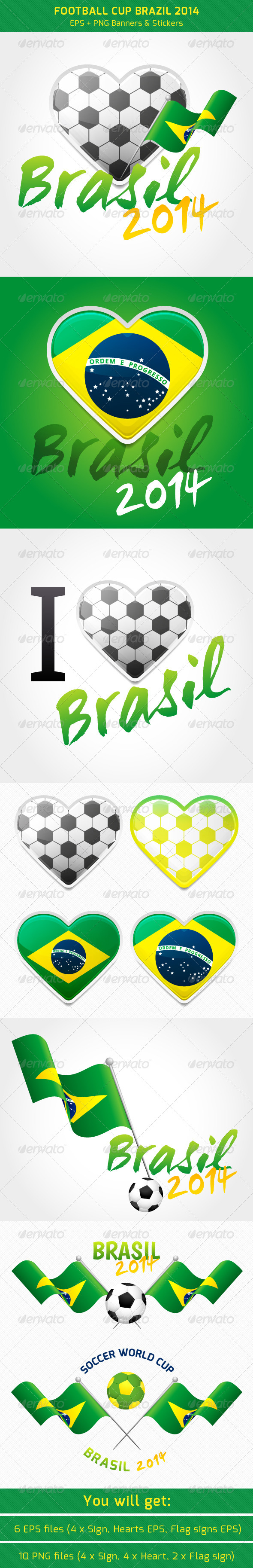 GraphicRiver Football Cup Brazil 8022721