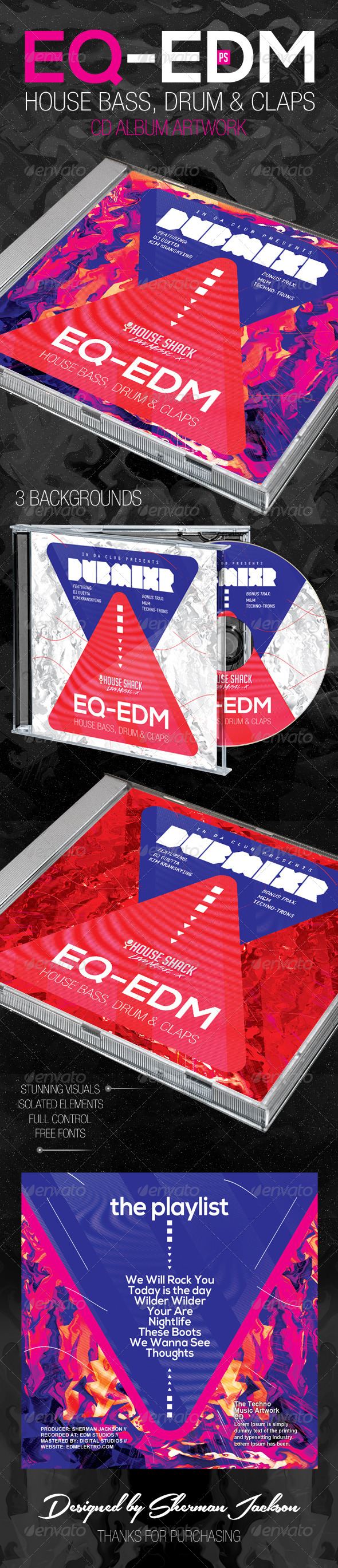 GraphicRiver EQ EDM CD Artwork 8023003