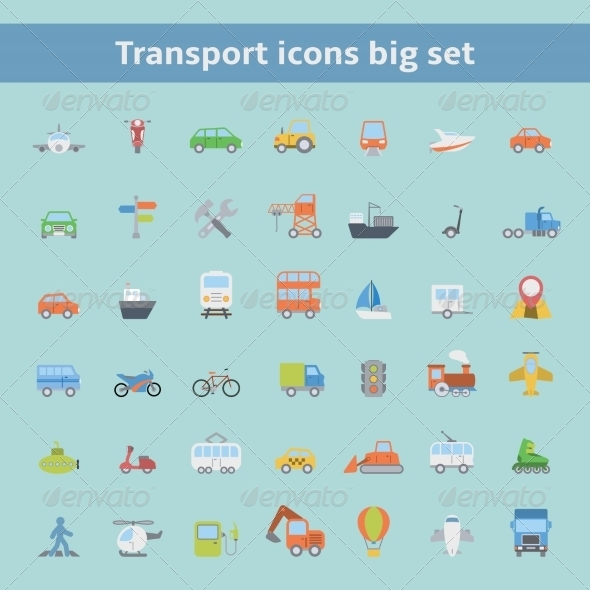 GraphicRiver Transportation Icons 8023005