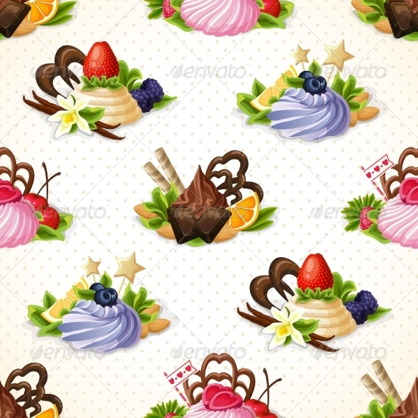 GraphicRiver Sweets Background 8023042