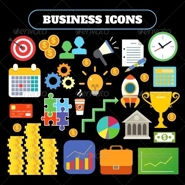 GraphicRiver Business Symbols 8023052