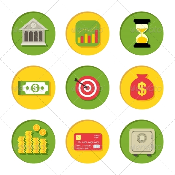 GraphicRiver Financial Icons Set 8023057