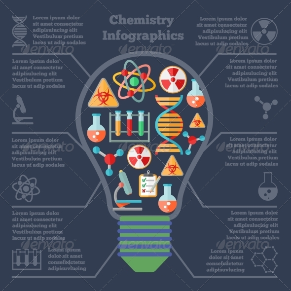 GraphicRiver Chemistry Research Infographics 8023075