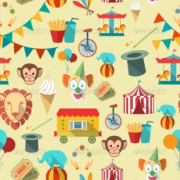 GraphicRiver Circus Seamless Pattern 8023088