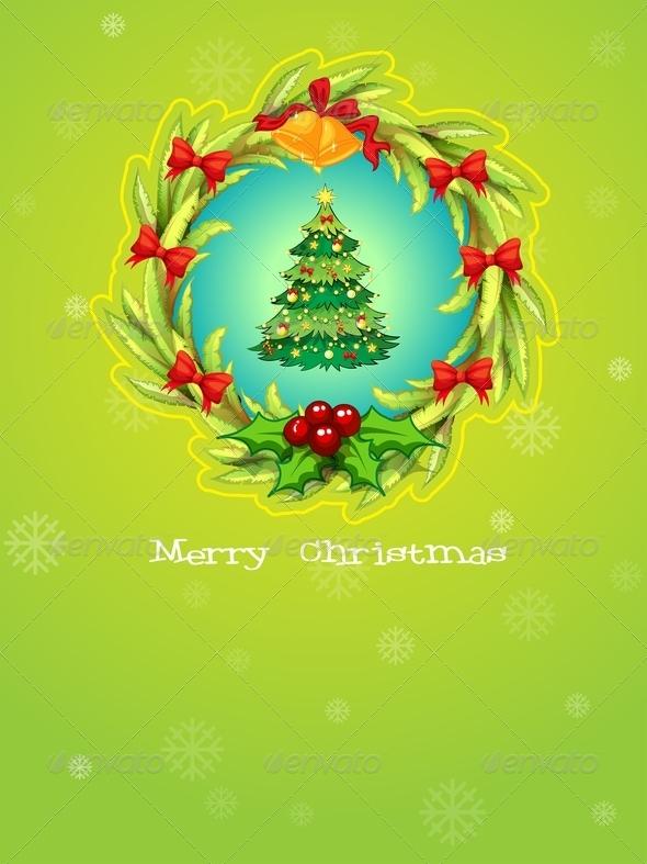 A Green Christmas Card Template