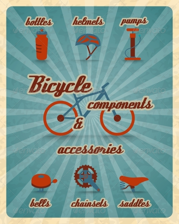 Bicycle Parts Poster