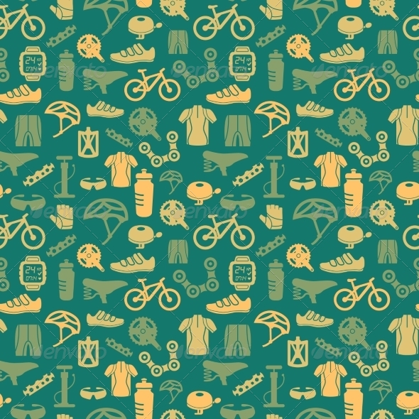 GraphicRiver Bike Seamless Pattern 8023102