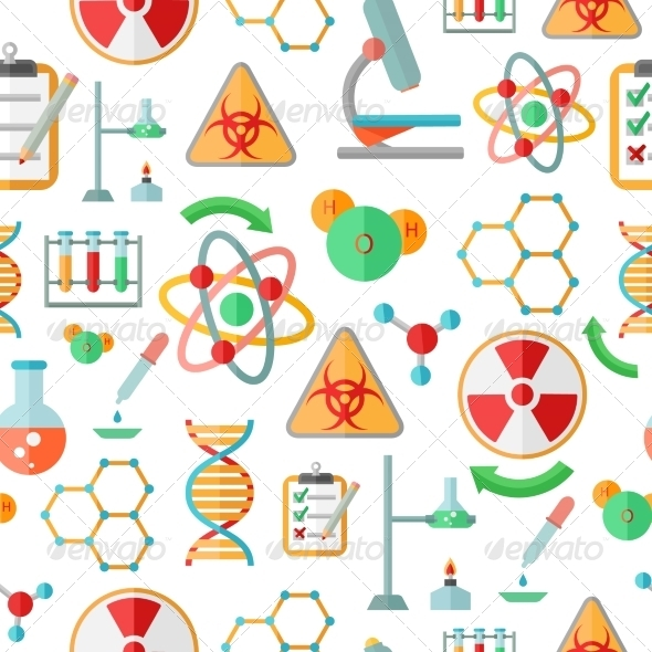 GraphicRiver Chemistry Research Seamless Pattern 8023108