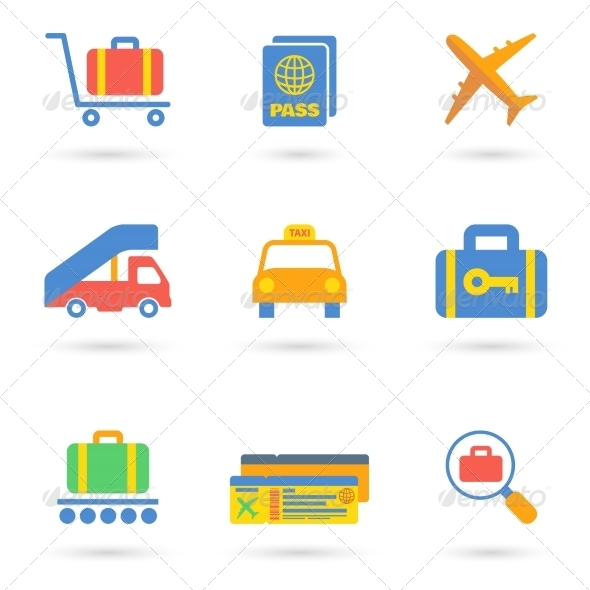GraphicRiver Airport Icons Flat 8023111