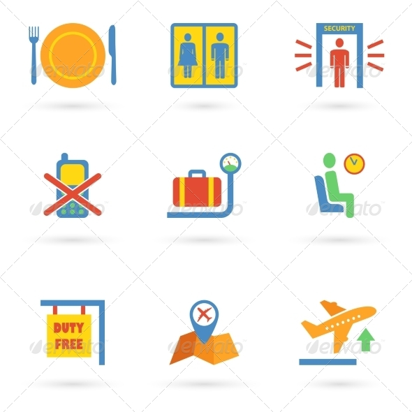 GraphicRiver Airport Icons Flat 8023113