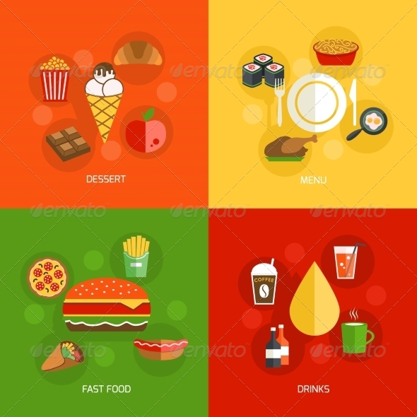 GraphicRiver Food Composition Flat 8023119