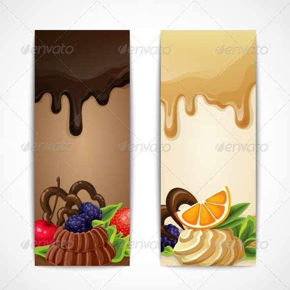 GraphicRiver Vertical Chocolate Banners 8023190