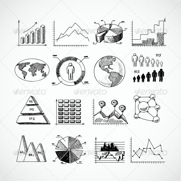 GraphicRiver Sketch Diagrams Set 8023230