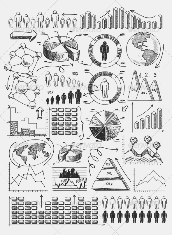 GraphicRiver Sketch Diagrams Infographics 8023231