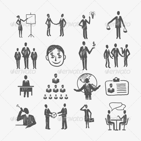 GraphicRiver Business People Sketch 8023232