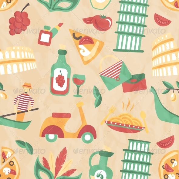 GraphicRiver Italy Seamless Pattern 8023237