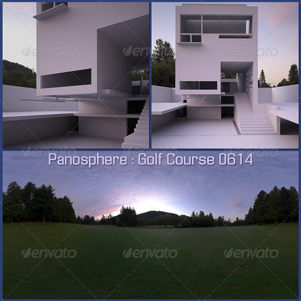 Panosphere HDRI - Golf Course 0614 - 3DOcean Item for Sale