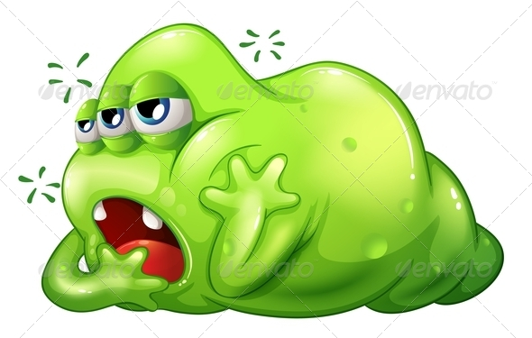 GraphicRiver Greenslime Monster in Boredom 8023244