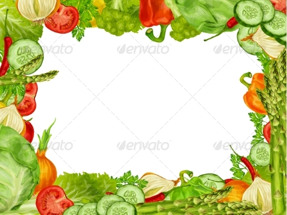 GraphicRiver Vegetables Frame 8023252