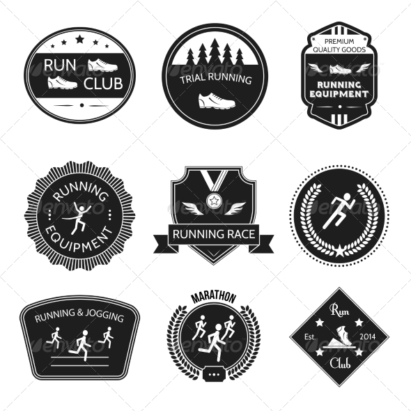 GraphicRiver Running Icons Label 8023285