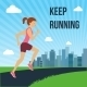 Running Woman Poster - GraphicRiver Item for Sale