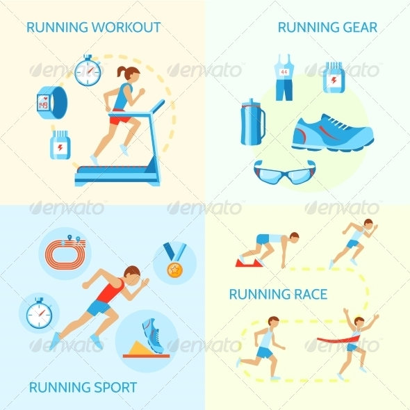 GraphicRiver Running Icons Composition 8023288
