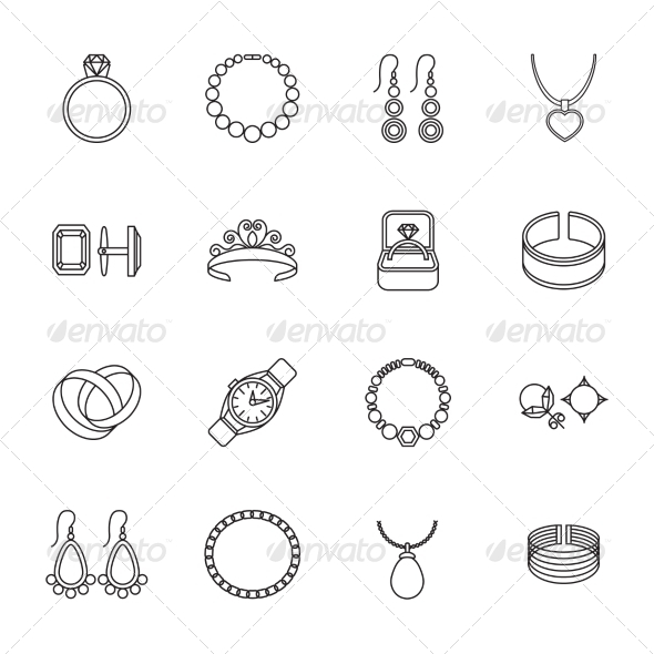 GraphicRiver Jewelry Icon Outline 8023289