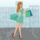 Urban Shopping Girl  - GraphicRiver Item for Sale