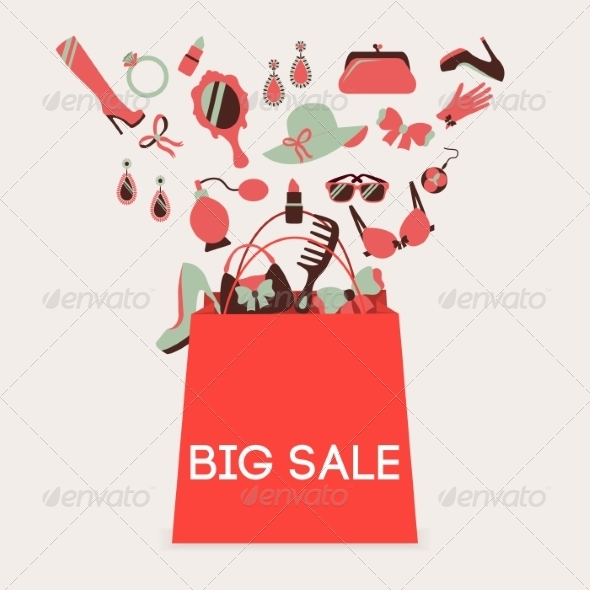 GraphicRiver Shopping Bag Big Sale 8023340